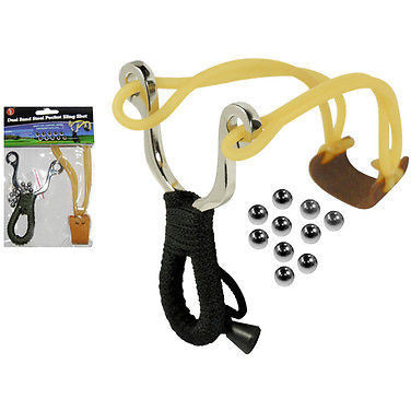Dual Band Steel Pocket Sling Shot - Cedar Creek Outdoors - 1