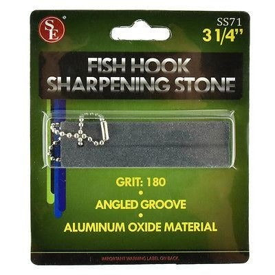 Fishing Hook 180 Grit Sharpening Stone With Angled Groove - Cedar Creek Outdoors - 1