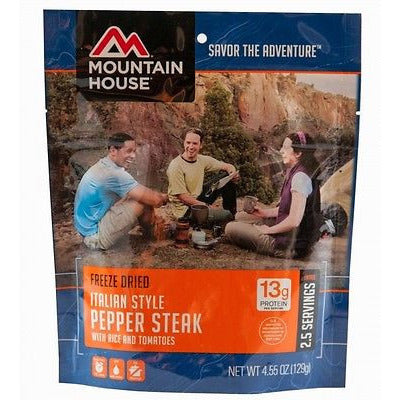 Mountain House Food Pouch-Italian Style Pepper Steak - Cedar Creek Outdoors - 1