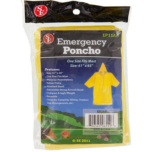 "Emergency Rain Poncho Disaster 61"" x 65"" One Size Most - Cedar Creek Outdoors - 1"
