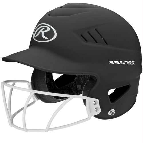 Rawlings Coolflo Highlighter Softball Helmet-Face Guard-Blk