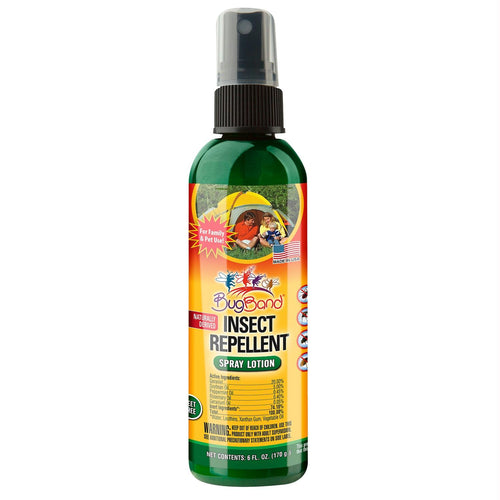 BugBand Insect Repellent Spray Lotion 6oz (Case of 12)