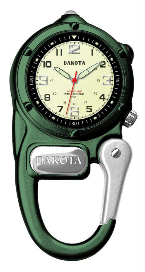 Dakota Green Mini Clip Microlight Watch