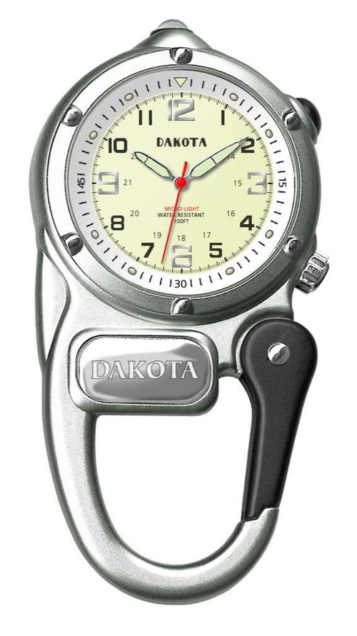 Dakota Silver Mini Clip Microlight Watch