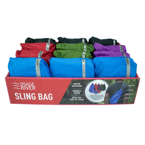 Osage River Taber Sling Bag-12 Pk Assorted Color Display