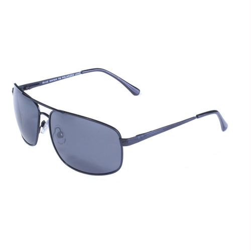 BlueWater Black Frame w- Spring Hinge and Grey Polarized Len