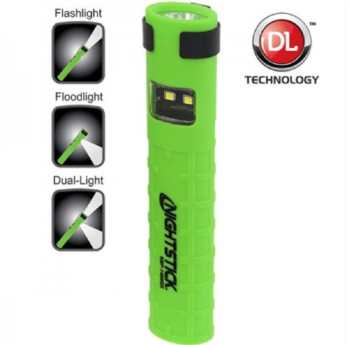 Nightstick Dual-Switch Dual-Light Flashlight  2 AAA Green
