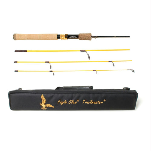 Eagle Claw Trailmaster Spinning Rod 4 Piece 6ft 6in Medium
