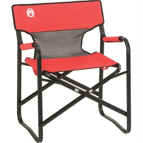 Coleman Chair Steel Deck W Mesh Red-Grey-Black 2000019421