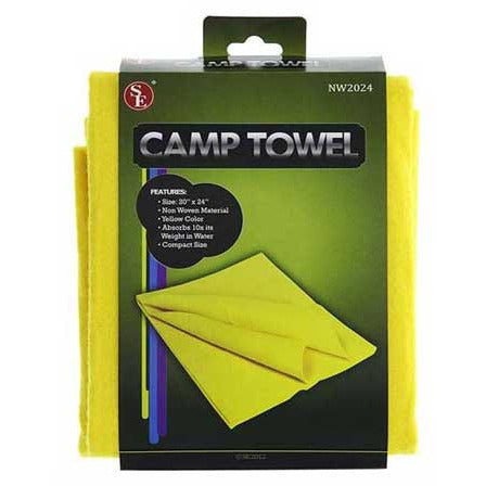 "Compact Non Woven Yellow Super Absorbent Camp HAND Towel 20"" x 24"" - Cedar Creek Outdoors - 1"
