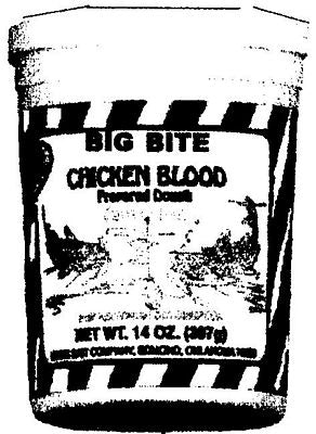 Magic Bait Catfish Big Bite Chckn Blood 4 Tubs/Case 14 Oz