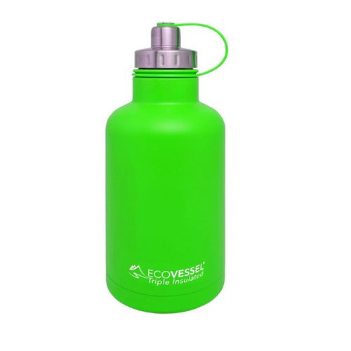 Eco Vessel The Boss Insulated Growler w/Infuser Green 64 oz