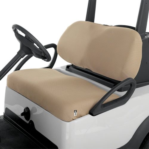 Classic Fairway Golf Cart Diamond Air Mesh Seat Cover Khaki