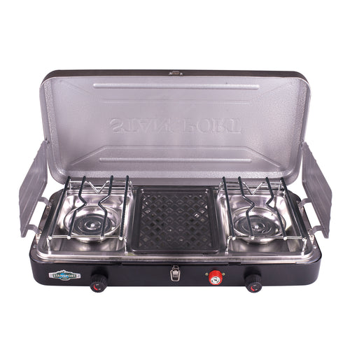 Stansport 2 Burner and Grill Propane Stove
