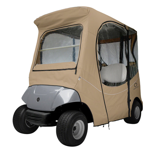 Classic Fairway FadeSafe Yamaha Golf Cart Enclosure-Khaki