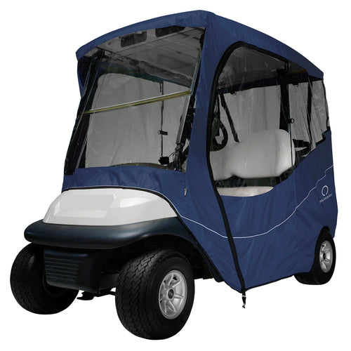 Classic Fairway Travel Golf Cart Short Roof Enclosure - Navy