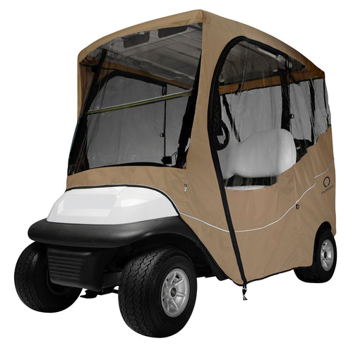 Classic Fairway Travel Golf Cart Short Roof Enclosure Khaki