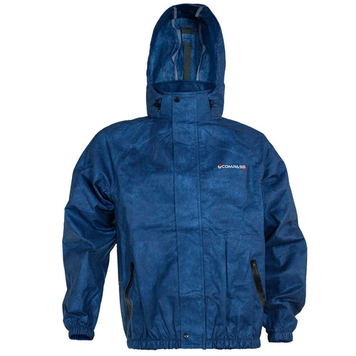 Compass 360 AdvantageTek Non-Woven Rain Jacket-Blue-Size MD