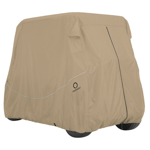 Classic Fairway Golf Cart Quick-Fit Cover Short Roof - Khaki