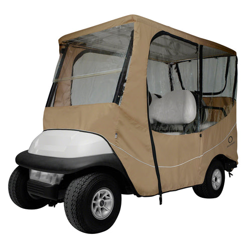 Classic Fairway Travel Golf Cart Long Roof Enclosure - Khaki