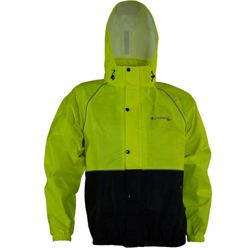 Compass 360 RoadTek Reflective Riding Jacket-Hi-Viz Lime-LG