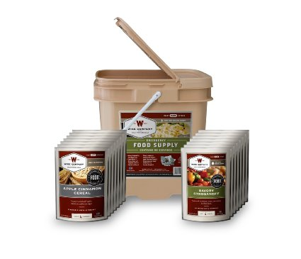 Wise Foods Breakfast/Entree Grab and Go Food Kit 56 Servings