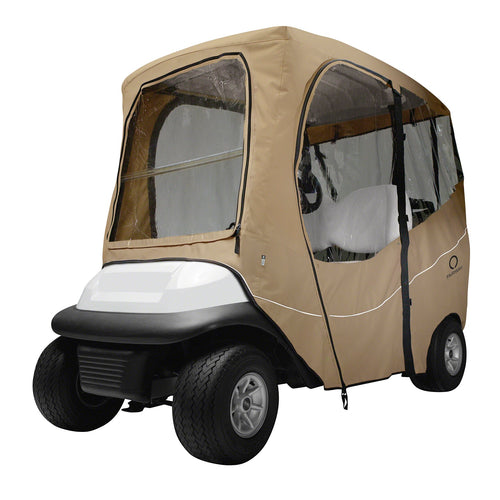 Classic Fairway Golf Cart Deluxe Enclosure Short Roof Khaki