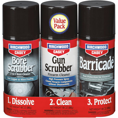 Birchwood Casey 1 2 3 Gun Bore Scrubber & Barricade Kit