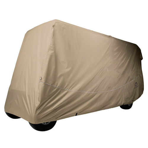 Classic Fairway Golf Cart Quick-Fit Cover X-Long Roof Khaki