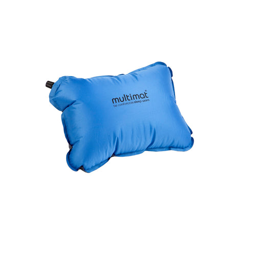 Multimat Camper Pillow Blue and Charcoal
