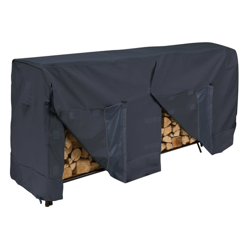 Classic 8 Foot Log Rack Cover - Black