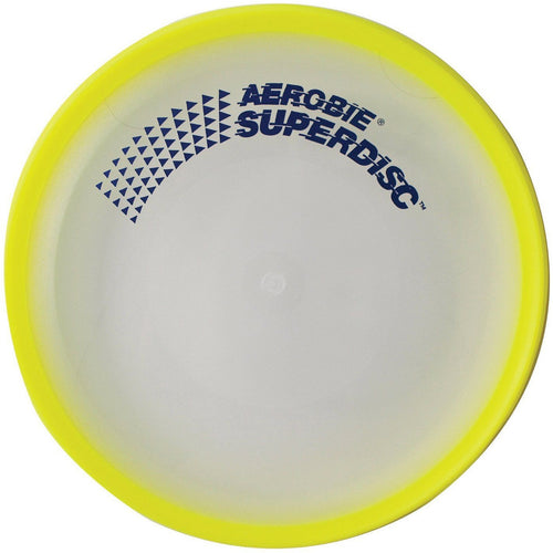 "Yellow 10"" Aerobie Superdisk Frisbee The Worlds Best Flying Disk Made in USA - Cedar Creek Outdoors - 2"