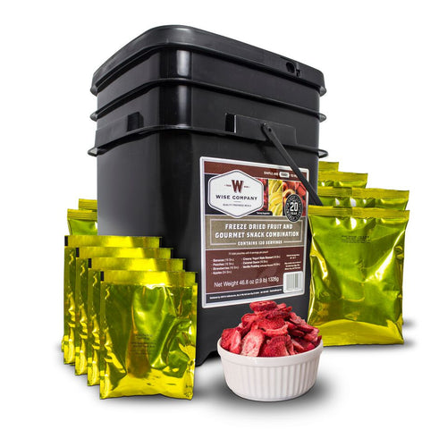 120 Serving Freeze Dried Fruit and Gourmet Snack Combination - Cedar Creek Outdoors - 1