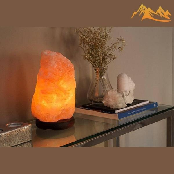 "HSS Handmade Natural Pink Himalayan Salt Lamp 8"" (Dimmer Switch)"
