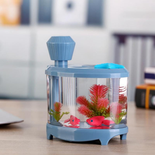 USB Fish Aquarium Humidifiers Ultrasonic Humidifier Essential Oil Aroma 460ML