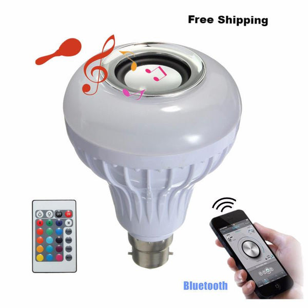 Remote Control LED RGB White Light Bulb (Wireless Bluetooth Speaker) - Himalayan Salt Solution (1)