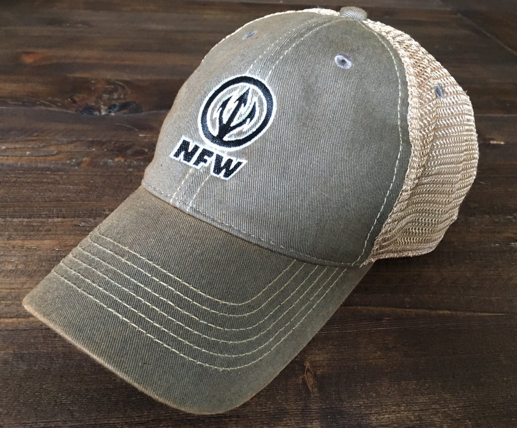 NFW Trident Trucker Hat, Earthen Moss