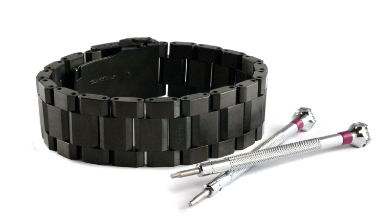 Brushed Blackened Steel WristBracer Men's Bracelet