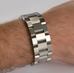 Brushed Steel WristBracer Men's Bracelet