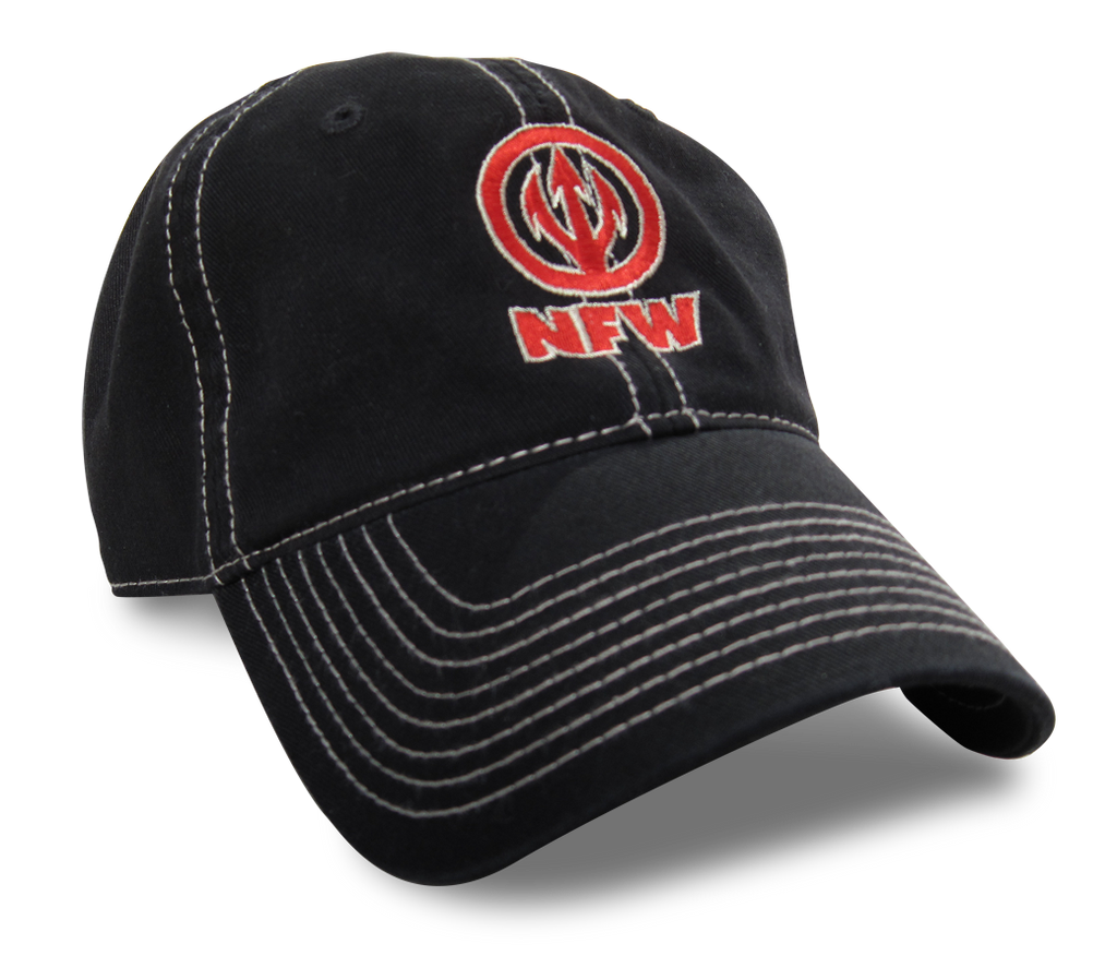 NFW Trident Logo Hat, Black with contrast stitching