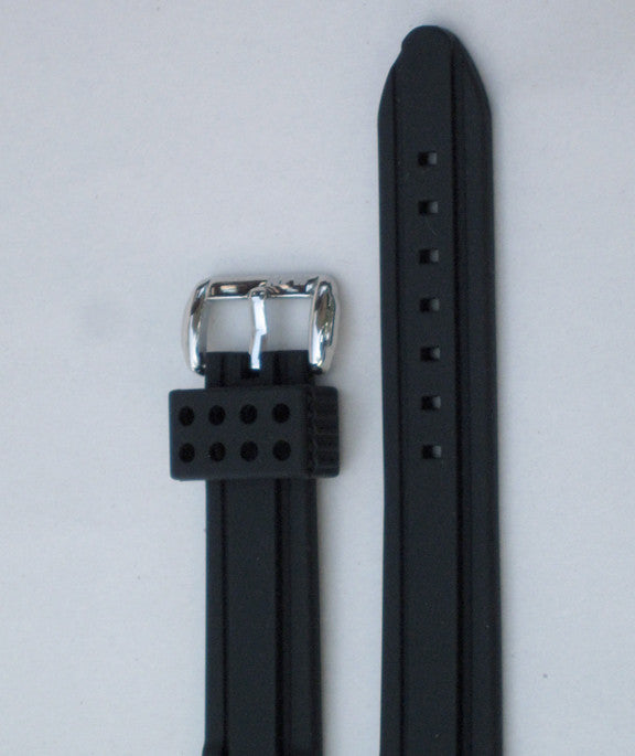 Vector and Regulator Black Rubber Strap
