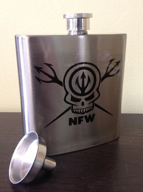 NFW Skull and Tridents Flask