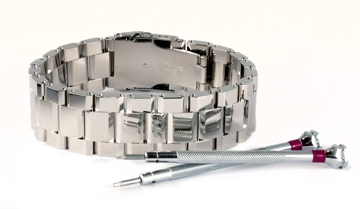 Polished Steel WristBracer Men's Bracelet