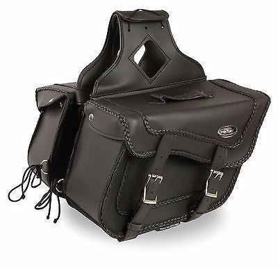 strap motorcycle saddlebags with braided