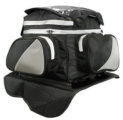 MAGNETIC MOTORCYCLE TANK BAG WITH MAP WINDOW ON TOP HEAVY DUTY MAGNETS NEW