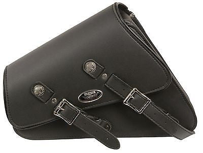 MOTORCYCLE SWING ARM SADDLEBAG PLAIN TWO STRAP WITH BUFFALO NICKEL RIGHT SIDE