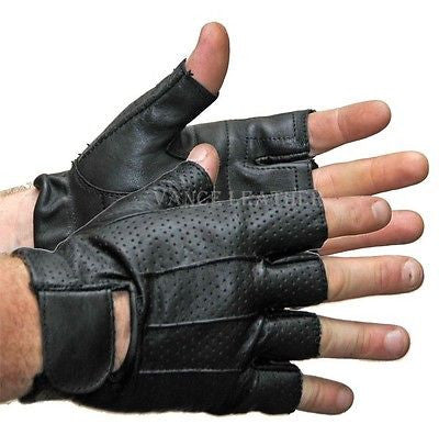 MOTORCYCLE BIKE GLOVES RIDING GLOVES MESH SHORTY GLOVES UNISEX