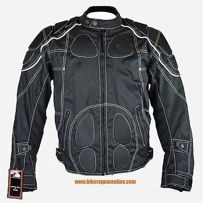 Men's Motorcycle Riding Textile Reflective jacket with armours inside
