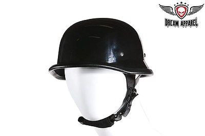 Motorcycle Shiny Novelty German Helmet with quick release