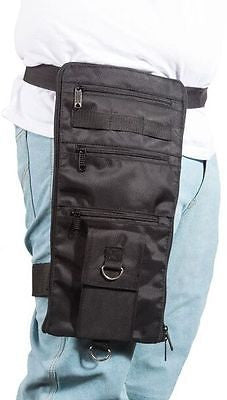 MOTORCYLE RIDING THIGH TEXTILE FANNY PACK WITH MANY POCKETS & GUN POCKET NEW